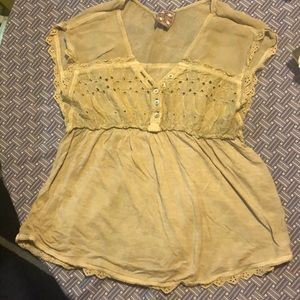 FreePeople XS Shortsleeved Top